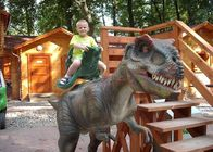 Kids Coin Operated Animatronic Dinosaur Ride For Shopping Mall Promotion