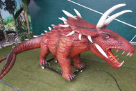 Outdoor Amusement Realistic Animatronic Dinosaur Triceratops For Kids