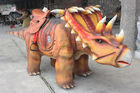 Interactive Robotic Walking Triceratops Dinosaur Rides For Playground