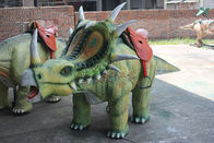 Kiddie Walking Dinosaur Rides , Realistic Animatronic Dinosaur Toy Car