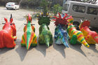 China Coin Operated Dinosaur Battery Car Walking Simulation Ride For Amusement Park company