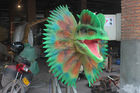 High Density Sponge Playground Dinosaur Head For Factory Door Show