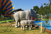 Water Resistant Animatronic Animals , Amusement Park​ Emulational Elephant