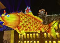 Golden Chinese Style Architectural Lantern Display For Large Exhibition