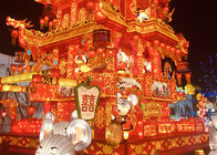 Golden Chinese Style Architectural Lantern Display Large Scale Exhibition