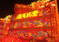 Animal Shaped Chinese Electric Lantern , Oriental Silk Lanterns For Festival