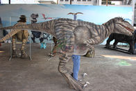 Interactive Handmade Realistic Dinosaur Costume Is Displayed In The Mall