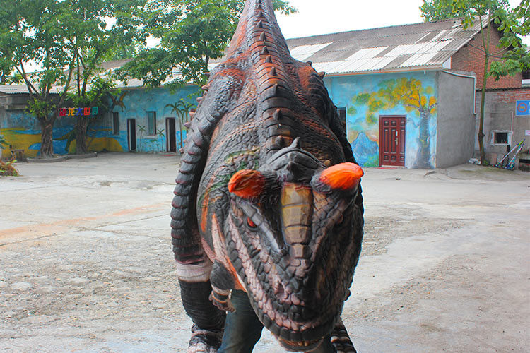 Soft Silicone Rubber Realistic Dinosaur Costume , Realistic Raptor Suit