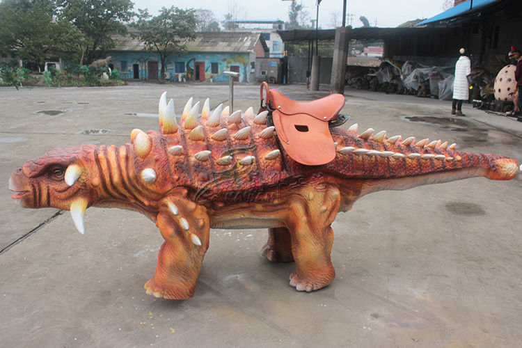 Customized Dinosaur Toy Car , Sun Proof Animatronic Kids Dinosaur Car