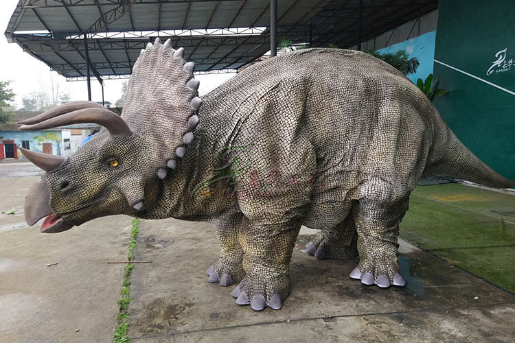 Customized Hide Leg Animatronic Realistic Dino Costume For Outdoor Adult