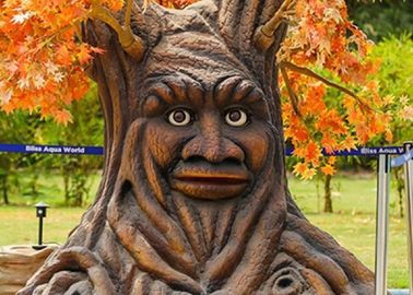 Artificial Lifelike Funny Animatronic Talking Tree For Theme / Amusement Park
