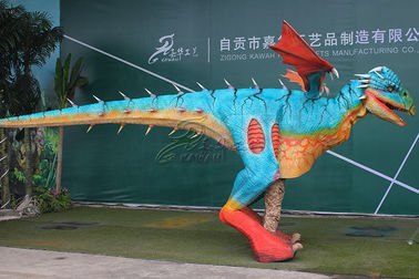 Long 4m Handmade Electric Realistic Dinosaur Costume Display Commercial Square