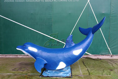 China Artificial Fiberglass Whale High Durability With Excellent Anti Fading Ability factory