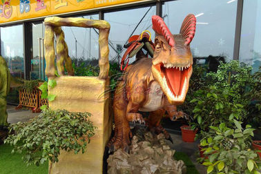 China Sun Proof Animatronic Dinosaur Ride With Soft Silicone Rubber Skin factory