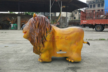 China Foam Steel Tube Lion Dinosaur Kids Car , Animal Battery Car Customized factory