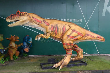 Multicolored Handmade Realistic Animatronic Dinosaur With Reliable Mechanical Frame