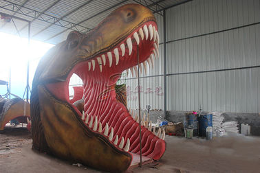 Large Animatronic Dinosaur Head Wall Mounted With Excellent Abrasion Resistance