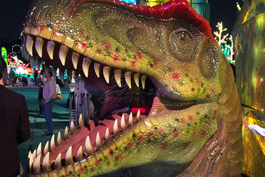 China Waterproof Color Realistic Hand - Sculpted Dinosaur Head In Dinosaur Park factory