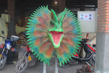 China High Density Sponge Playground Dinosaur Head For Factory Door Show factory