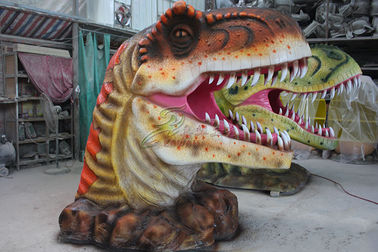 China Jurassic Park Place Dinosaur Head Decoration Entertainment Equipment factory