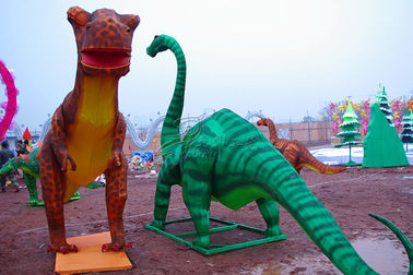 China Electric Silk Fabric Chinese Lanterns Dinosaur Shaped For New Year Show factory