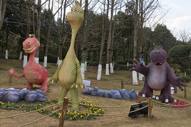 China Amusement Park Family Combination Custom Fiberglass Products Hand Made Dinosaurs factory