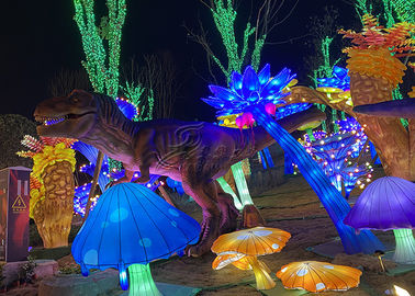 China Special Keel Made Fabric Chinese Lanterns Seaweed Dinosaur Combination To Show Festival factory