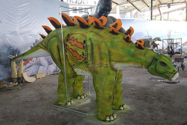 China Green Attractive Realistic Dino Costume High Durability For Party Entertainment factory