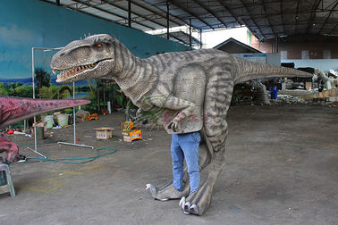 China Interactive Handmade Realistic Dinosaur Costume Is Displayed In The Mall factory