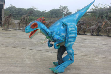 Adults Workers Realistic Raptor Costume Sunproof Colorized Lifelike Blue Color