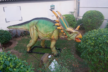 China Outdoor Natureal Life Size Dinosaur Statue , Dinosaur Lawn Sculpture For Square Park factory