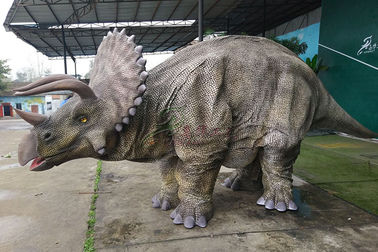 China Customized Hide Leg Animatronic Realistic Dino Costume For Outdoor Adult factory