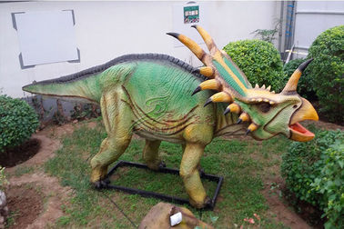 China Waterproof Life Size Dinosaur Statue Triceratops For Amusement Park factory