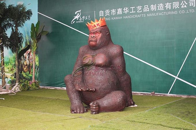 Realistic Life Size Animatronic Gorilla King Kong For Amusement Park
