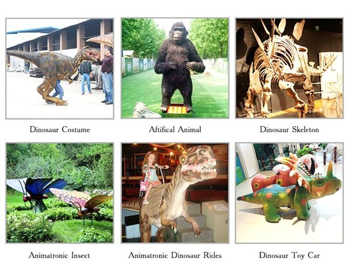 3 - 6 Meters Lifelike Animatronic Animals For Playground / Shopping Mall