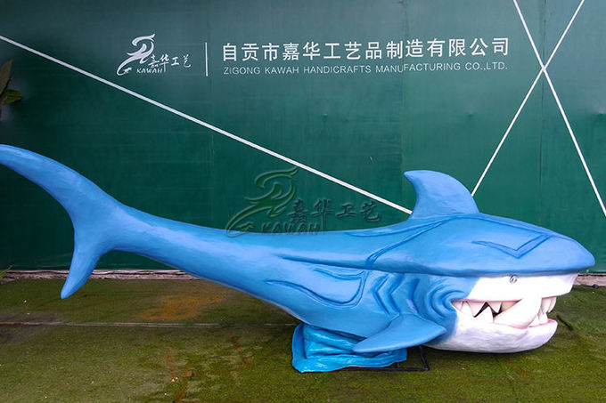 Artificial Fiberglass Whale High Durability With Excellent Anti Fading Ability