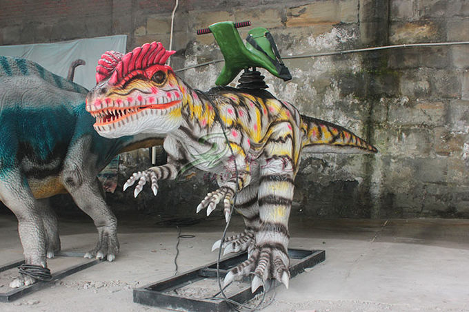 Sun Proof Animatronic Dinosaur Ride With Soft Silicone Rubber Skin