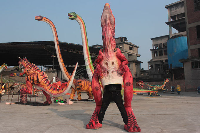 Long 4m Handmade Animatronic Dinosaur Costume Display Business Square